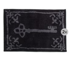 CASA FONDO  Mikrofaser Fußmatten-Set Schlüssel & Ornament ca. 45x65cm