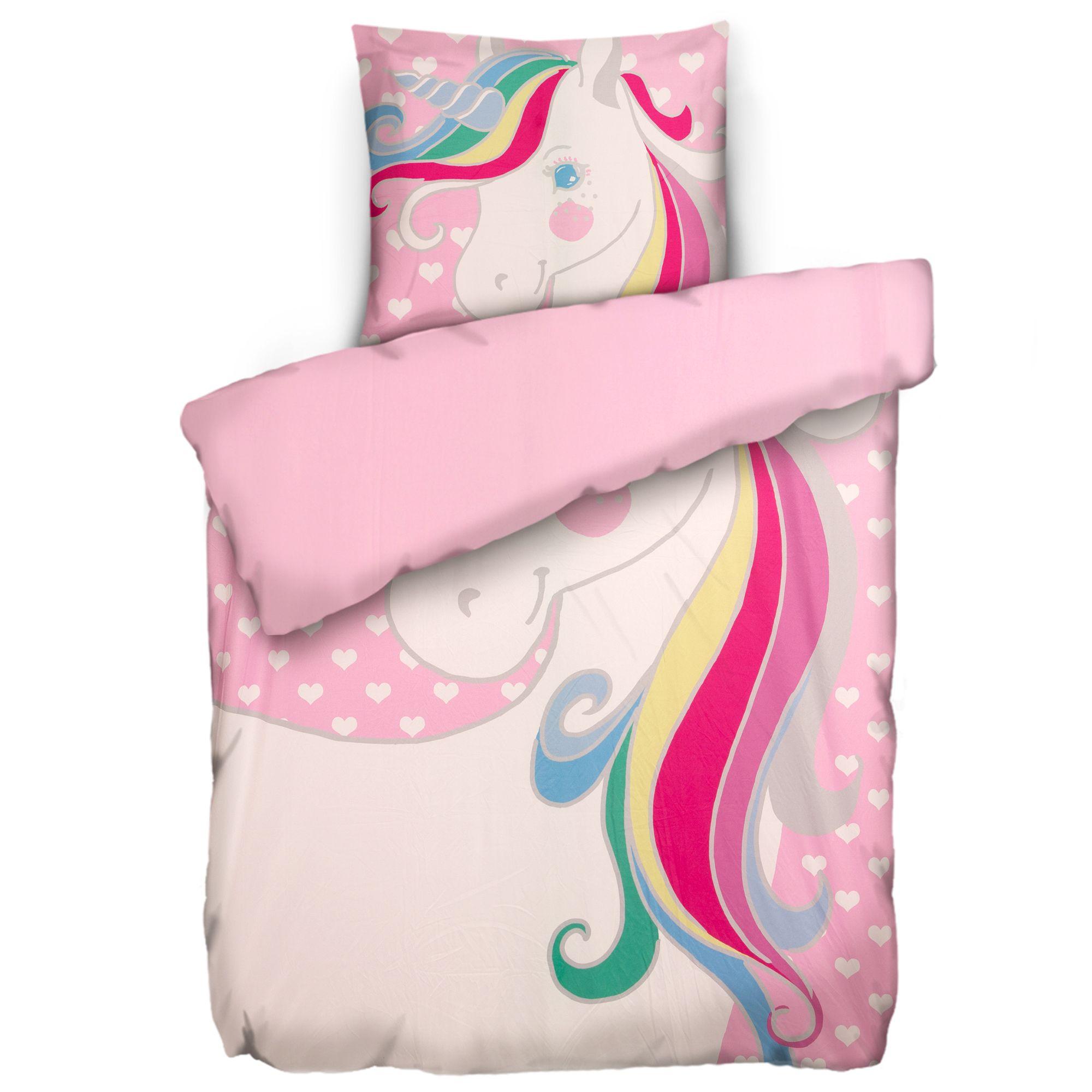 Jerymood Kinderbettwäsche Einhorn Mikrofaser Jersey Einzelbett 2tlg