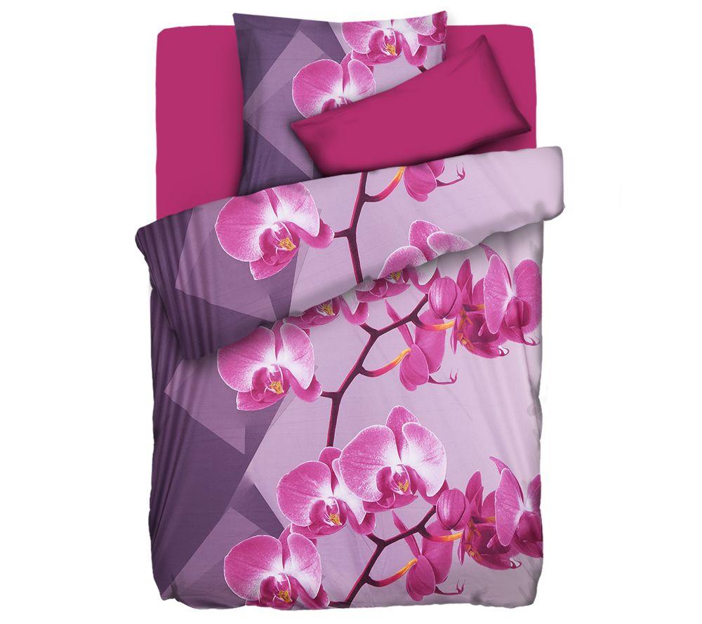 Jerymood Bettwäsche Orchideen Mikrofaser Jersey Einzelbett 4tlg