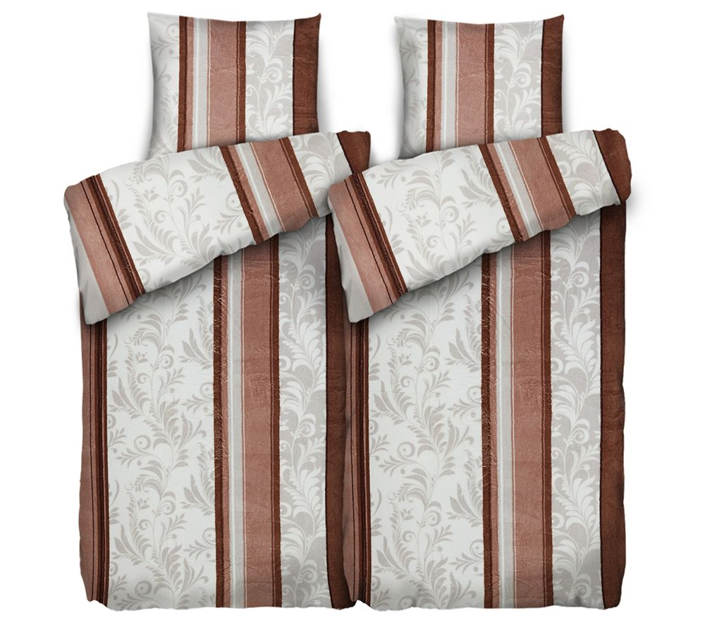 badizio classic mf pl schtrikot bettw sche streifen ranke doppelbett 4tlg page 1. Black Bedroom Furniture Sets. Home Design Ideas