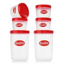 EASIYO  Behälter-Set neue Form 2x 1l & 4x 250ml