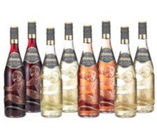 AFFENTALER WEIN  8 Flaschen Qualitätswein in Affenflaschen Jg. 2016