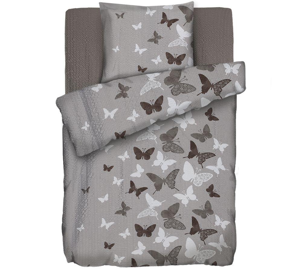 Soft Wave Mf Seersucker Bettwäsche Schmetterlinge Einzelbett 3tlg
