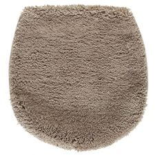 BADIZIO  Mikrofaser WC Deckelbezug rutschfest uni, ca. 50x47cm