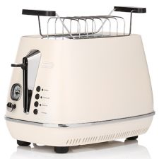 DELONGHI  2-Schlitz Toaster Lift-Funktion Brötchenaufsatz & Bräunungskontrolle CTI 2103