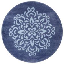 CASA FONDO  Mikrofaser Teppich Ornament rund, Ø ca. 90cm