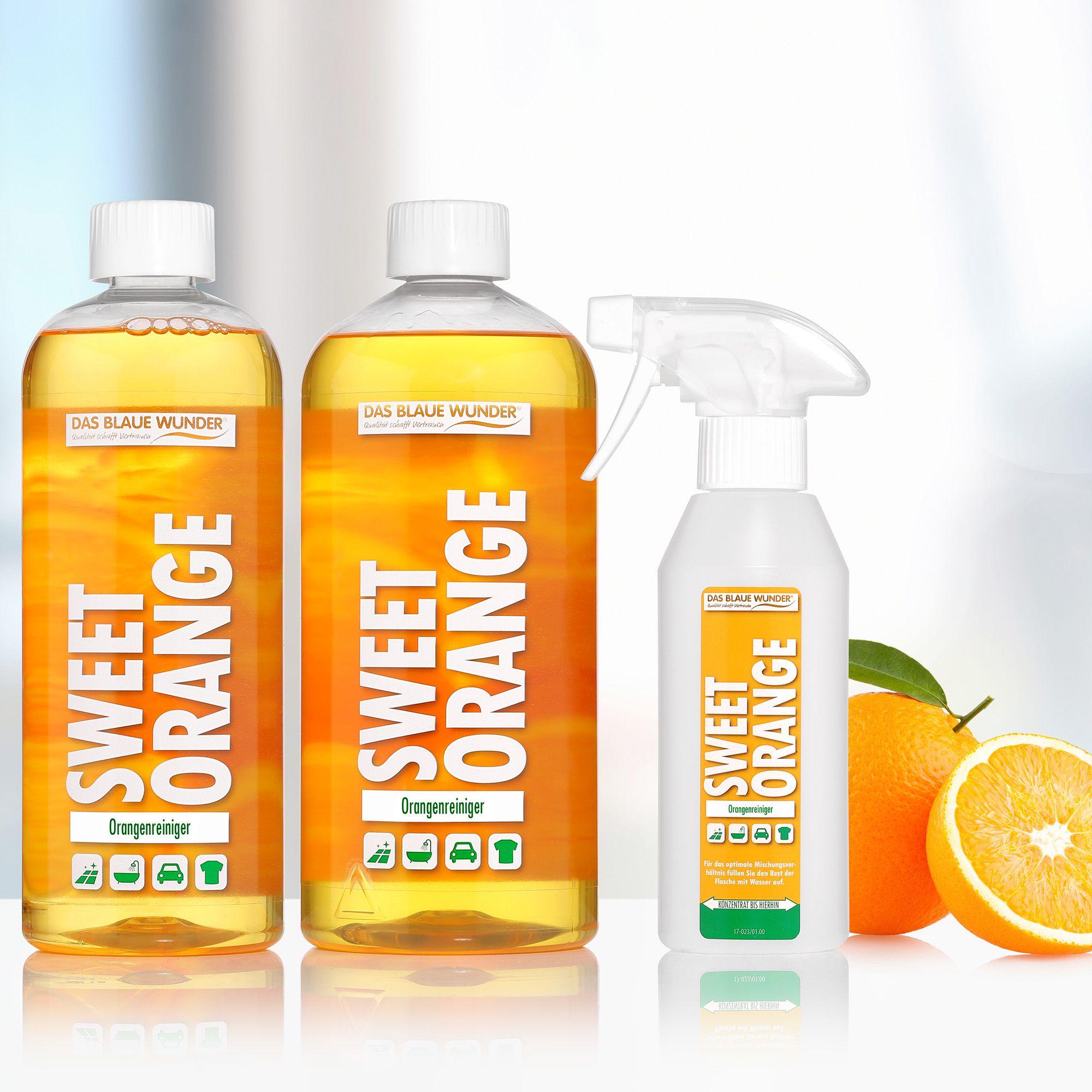 DAS BLAUE WUNDER® Sweet Orange Orangenreiniger 1x 1l & 1x ...