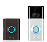 New Ring Video Doorbell 2, HD Surveillance 2-Way Talk and 3 Year Warranty - E231800