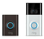 Ring Doorbell 2 HD Surveillance w/ Two-Way Talk Night Vision & 3-Yr Warranty - E233700