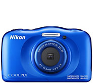 Nikon Coolpix W100 Waterproof Digital Camera with 1080p Video - E295400