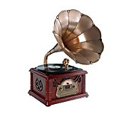 Pyle Classical Trumpet Horn Turntable/Phonograph - E251204