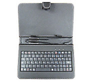 7 Android Tablet Keyboard w/ Mini USB, Case, a nd Style Pen - E272604