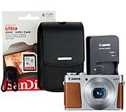 Canon Powershot G9X Mark II Digital Camera 16GB SD Card and Carry Case - E230706