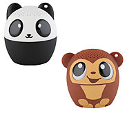 My Audio Pet Set of Two Mini Bluetooth Speakers - E231207