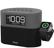 iHome Bluetooth Clock Radio with Apple Watch Charging - E292307