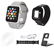 Apple Watch Series 3 42mm Sport Bundle w/ Extra Band & Accessories - E231809