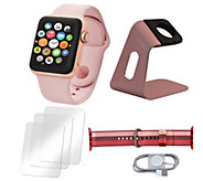 Apple Watch Series 3 42mm with Extra Nylon Band and Accessories - E232409