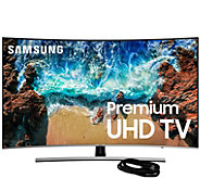 Samsung 55 Class LED Curved 4K HDR Ultra HDTV& HDMI Cable - E294709