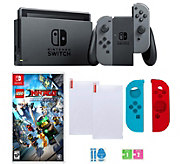 Nintendo Switch in Gray with Lego Ninjago Gameand Accessories - E295310