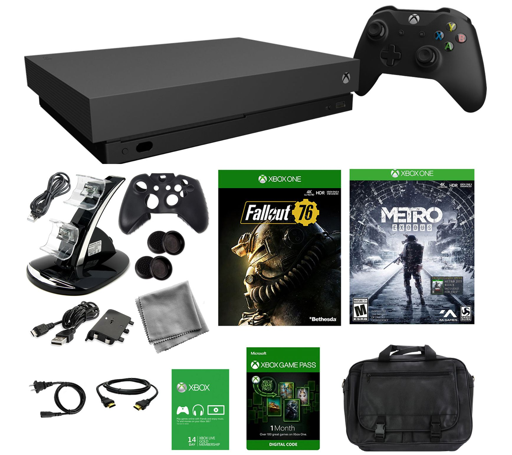Xbox One X 1TB Console with Fallout 76 andMetro Exodus — QVC com