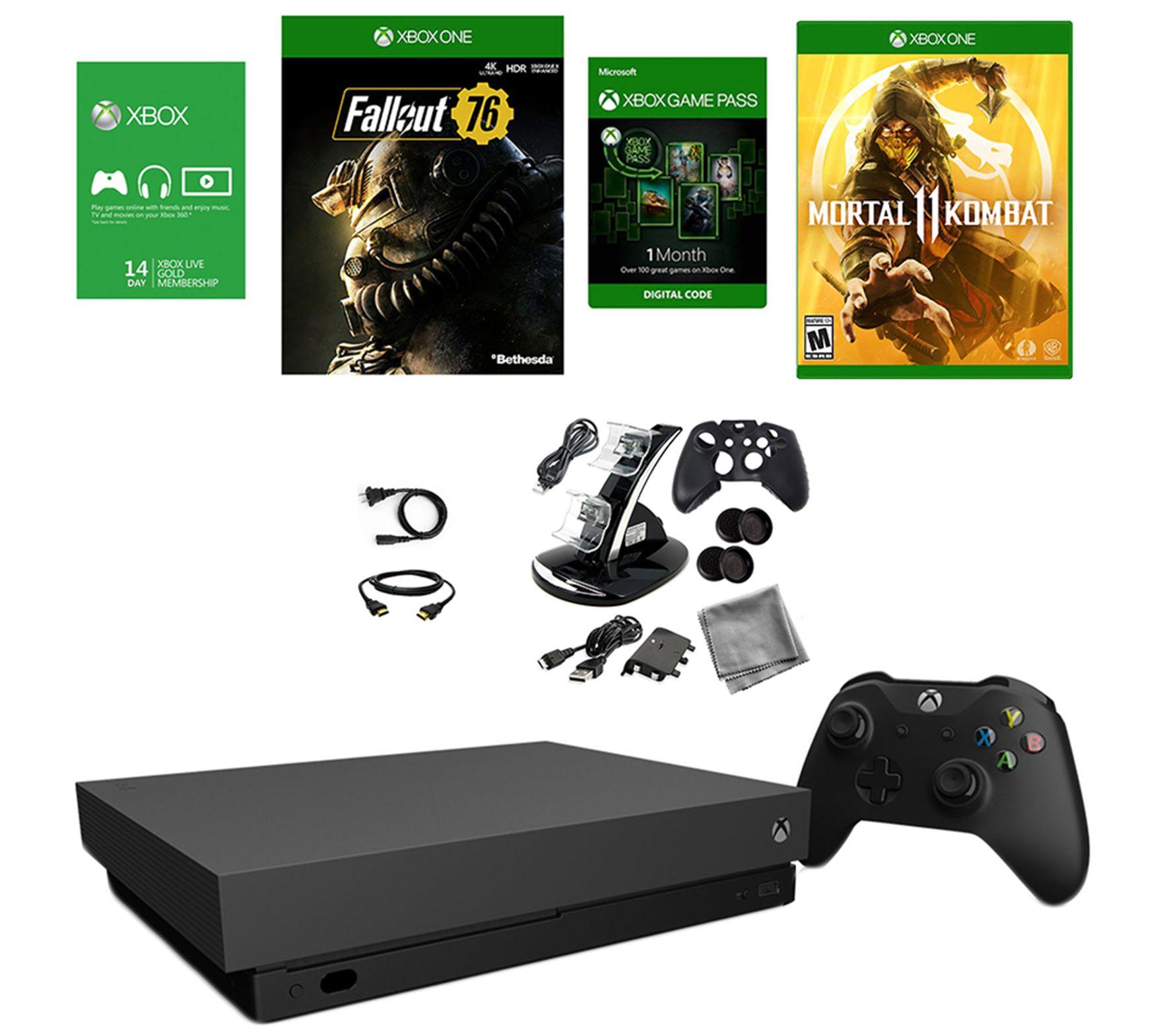 Xbox One X Console Mortal Kombat 11, Fallout 76, Accessories — QVC com