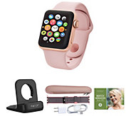 Apple Watch GPS Series 3 38mm w/ Extra Band, Accessories & Voucher - E232115