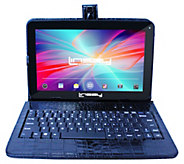 LINSAY 10.1 16GB Android Tablet with KeyboardCase - E296715