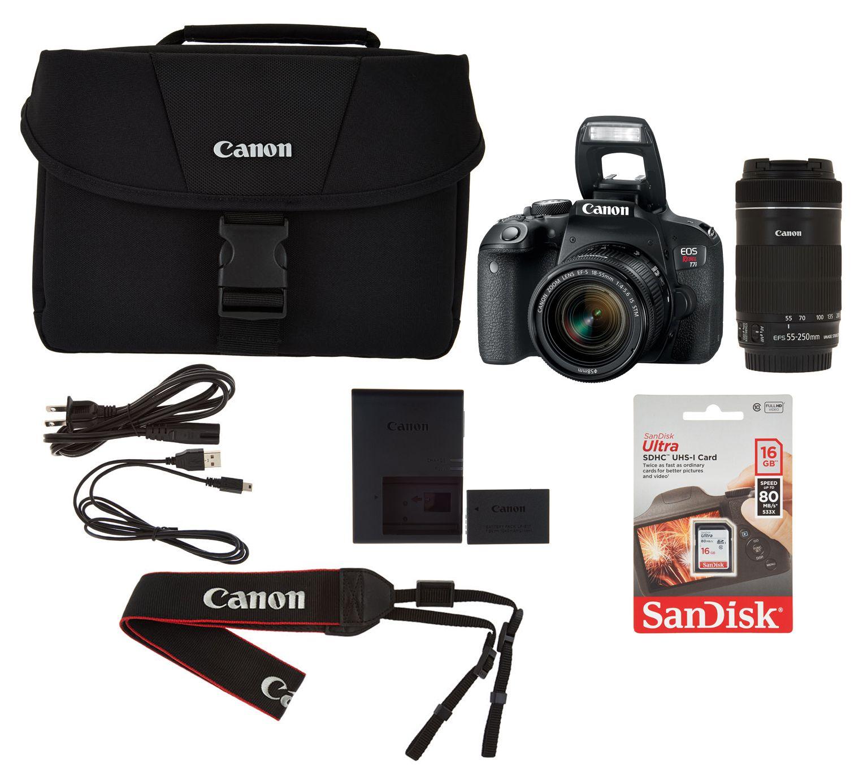 Canon EOS Rebel T7i Camera Bundle with Lens Kit & Bag — QVC com