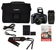 Canon EOS Rebel T7i Camera Bundle with Lens Kit & Bag - E231117