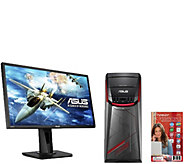 ASUS Gaming Desktop w/ 24 Monitor - 8GB RAM, 1TB HDD, GTX 95 - E290617