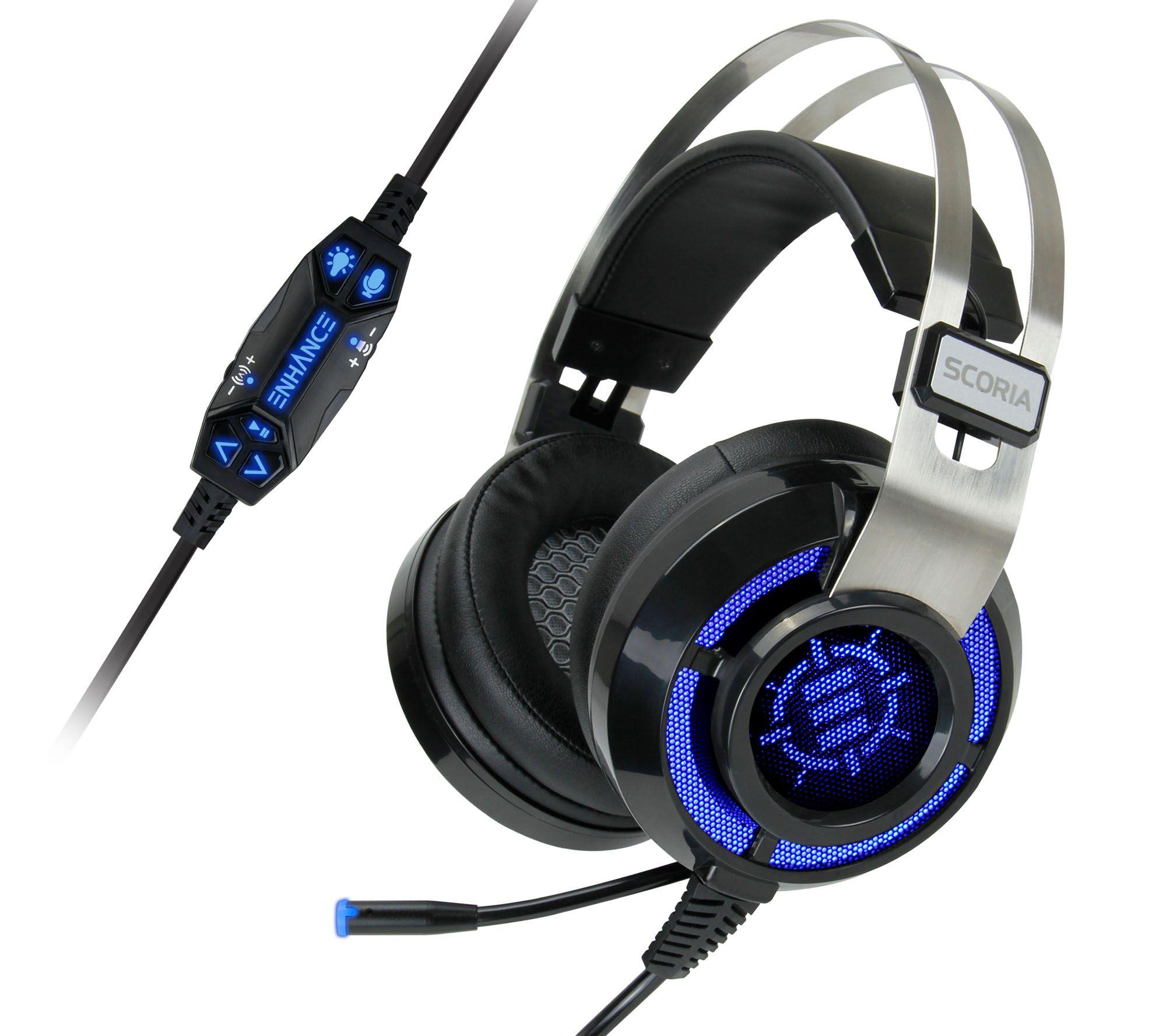 Enhance Scoria Gaming Headset For Pc Ps4 Qvc Com