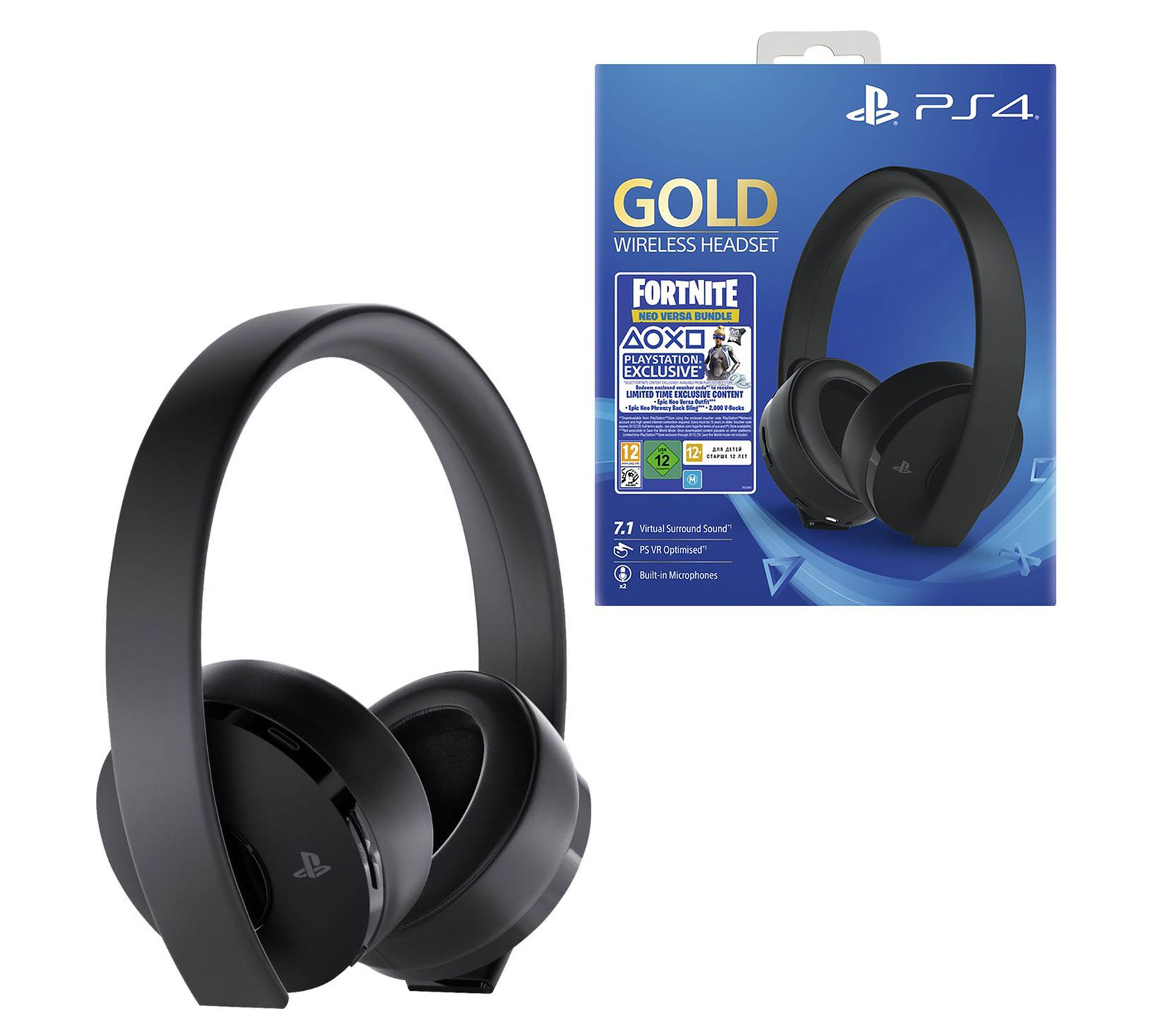 Ps4 Gold Wireless Headset With Fortnite Neoversa Bundle Qvc Com