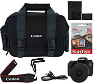 Canon EOS 77D 24.2 MP DSLR Camera with Lens Kit, Bag & 32GB SD Card - E231118