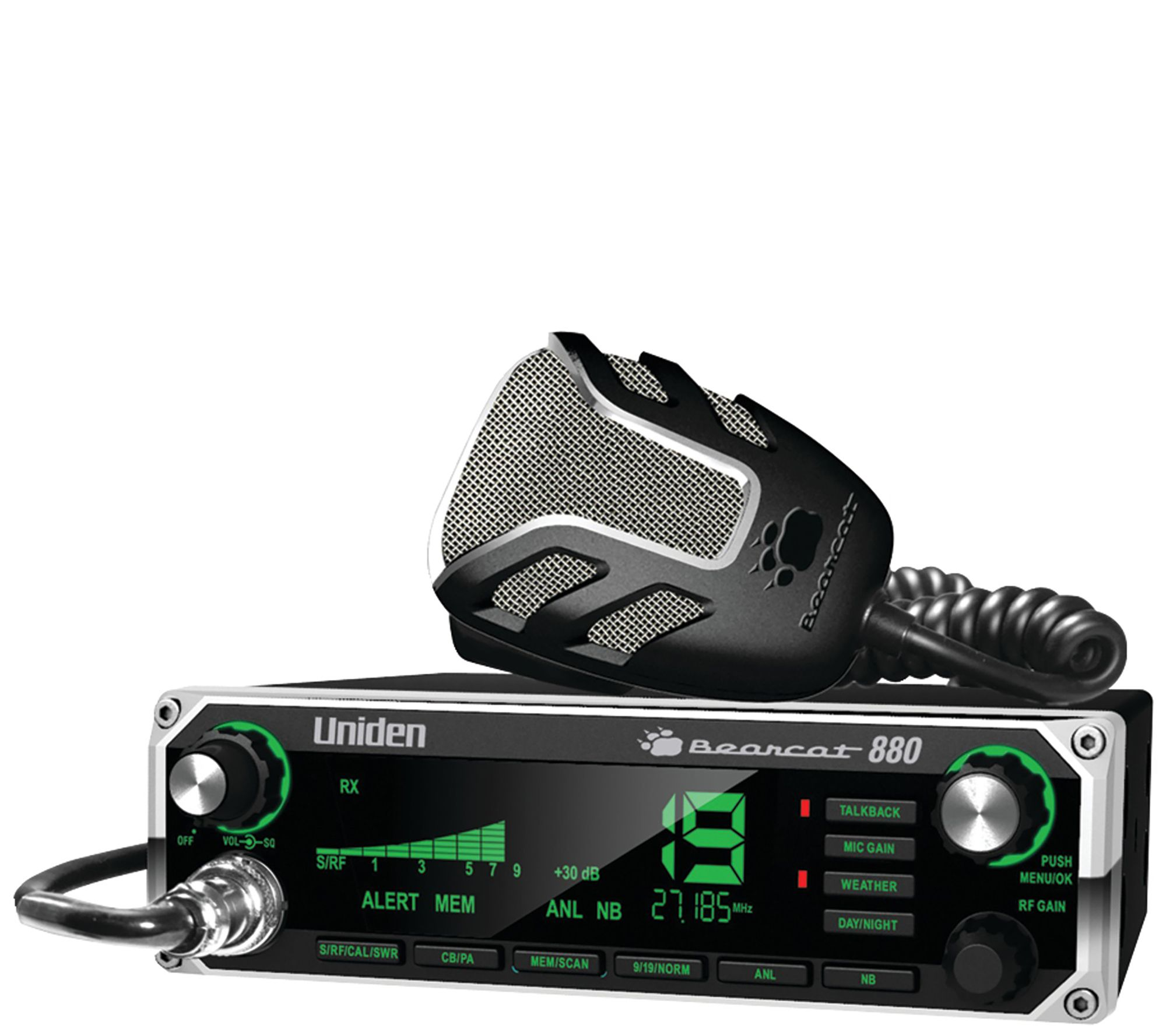 3a931a3491717 Uniden 40-Channel Bearcat 880 CB Radio with 7-Color Display — QVC.com