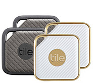 Tile Pro Series Item Trackers 4-Pack, Sport & Style Edition w/ Gift Sleeves - E232219