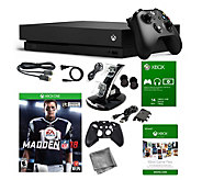 Xbox One X 1TB with Madden NFL 18, Game Pass& Accessories - E292820