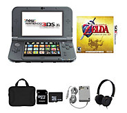 New Nintendo 3DS XL with Zelda Game, AC Adapter, and Accessories - E231221