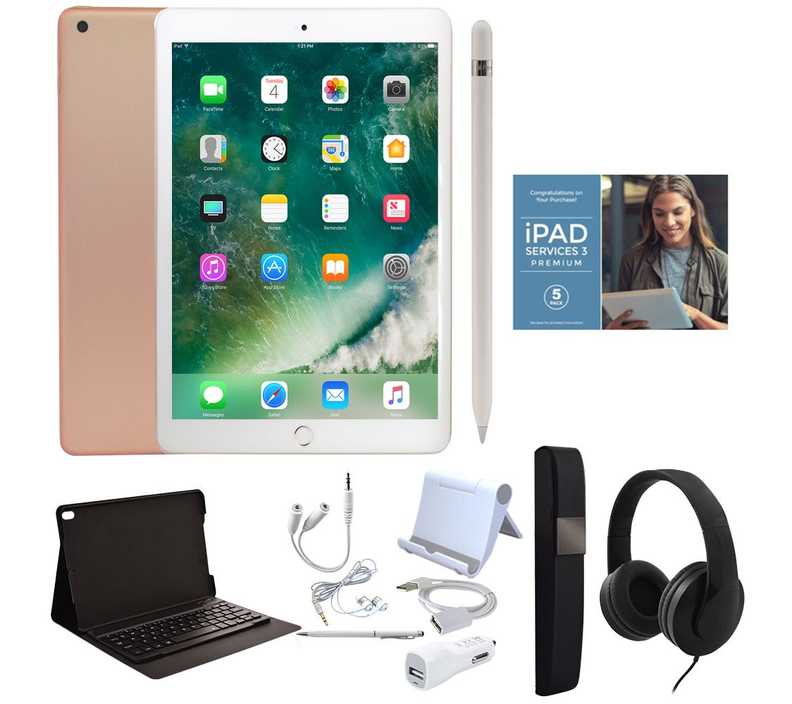 "Image result for Apple iPad 9.7"" 32GB Wi-Fi (Latest Model) w/ Apple Pencil & Keyboard Case"