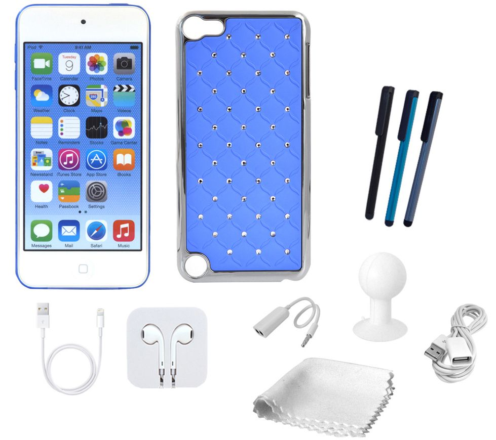 Apple Ipod Touch 16gb 6th Gen With Starter Kit Fashion Case 6 Blue