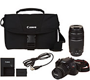 Canon Rebel T6 18MP DSLR Wi-Fi Camera with 18-55, 75-300mm Lenses & Accs. - E231525