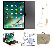 Apple iPad Pro 10.5 64GB WiFi w/ Travel Bag, Keyboard Case, & Accessories - E232825