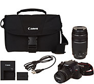 Canon Rebel T6 18MP DSLR Wi-fi Camera with 18-55, 75-300mm Lenses & Accs. - E232027