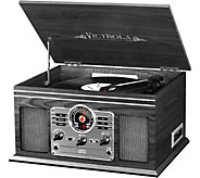 Victrola Wooden 6-in-1 Bluetooth Record Player - E290827