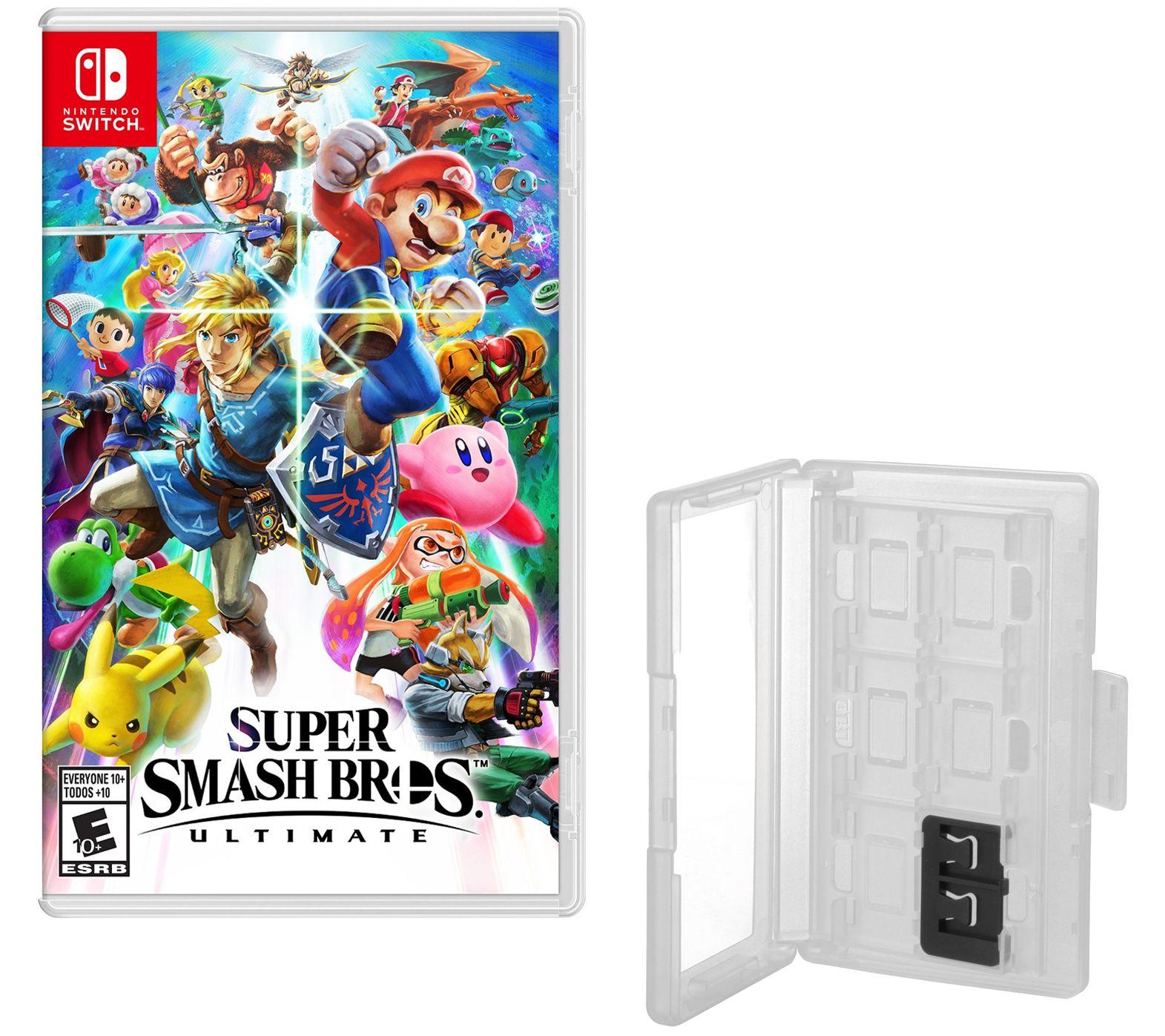 Super Smash Bros Ultimate Nintendo Switch Gameand Game Caddy — QVC com