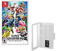 Super Smash Bros Ultimate Nintendo Switch Gameand Game Caddy - E296927