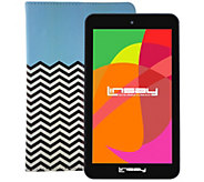 LINSAY 7 HD Quad-Core Android Tablet with Leather Case - E300027
