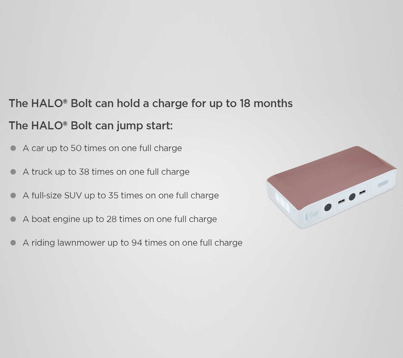 HALO Bolt AC DC Wireless Phone Charger & Car Jump Starter with AC Outlet —  QVC com