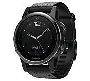 Garmin fenix 5S 42mm Multisport Watch SapphireEdition - Black - E293929
