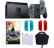 Nintendo Switch - Gray with Zelda, Sleeves & Accessories - E291230