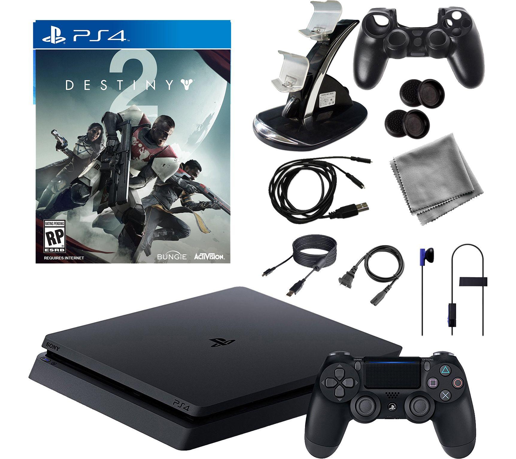 PS4 1TB Core Console with Destiny 2 and Accessories — QVC com